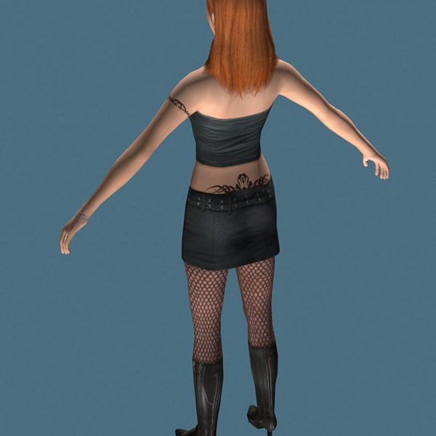 High Heel Girl (High Poly) royalty-free 3d model - Preview no. 5
