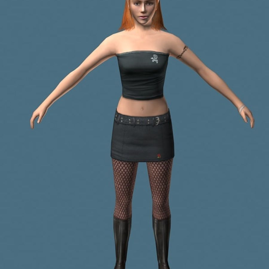 High Heel Girl (High Poly) royalty-free 3d model - Preview no. 3