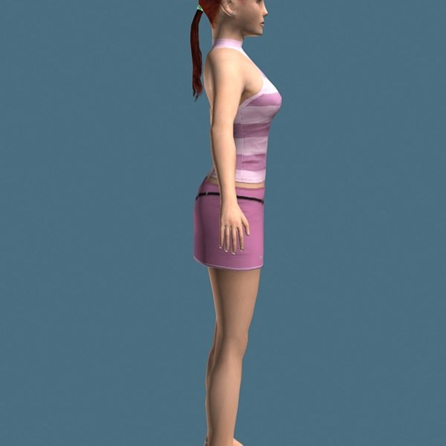 High Heel Girl (High Poly) royalty-free 3d model - Preview no. 2