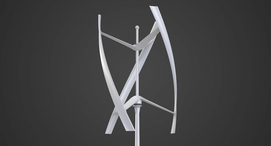 Wind Generator 2 royalty-free 3d model - Preview no. 3
