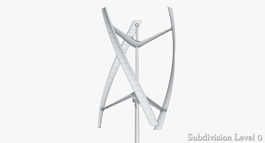 Wind Generator 2 royalty-free 3d model - Preview no. 11