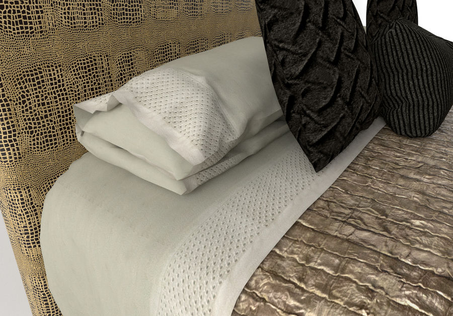 Bed_Elegant royalty-free 3d model - Preview no. 3