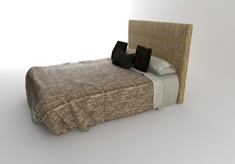 Bed_Elegant royalty-free 3d model - Preview no. 1