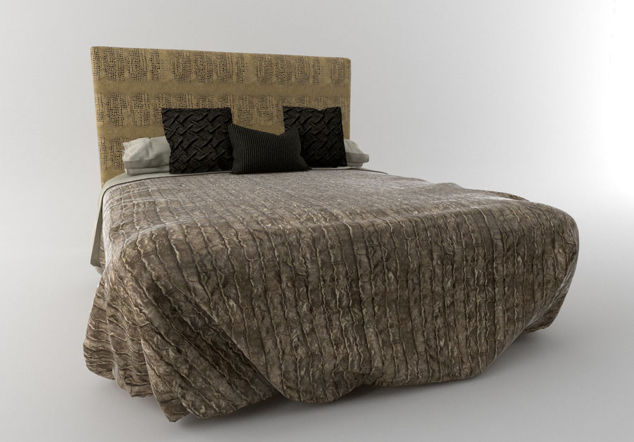 Bed_Elegant royalty-free 3d model - Preview no. 2