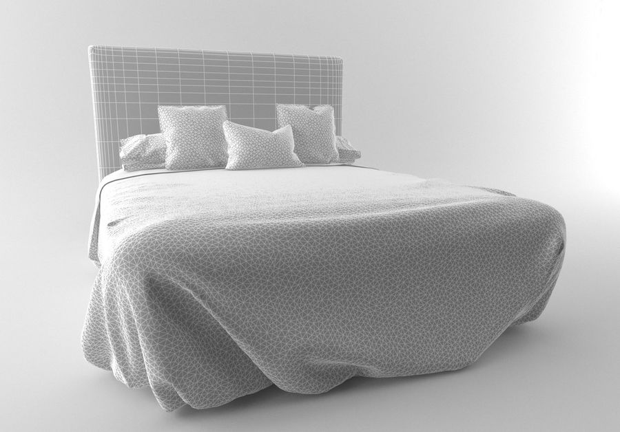 Bed_Elegant royalty-free 3d model - Preview no. 4