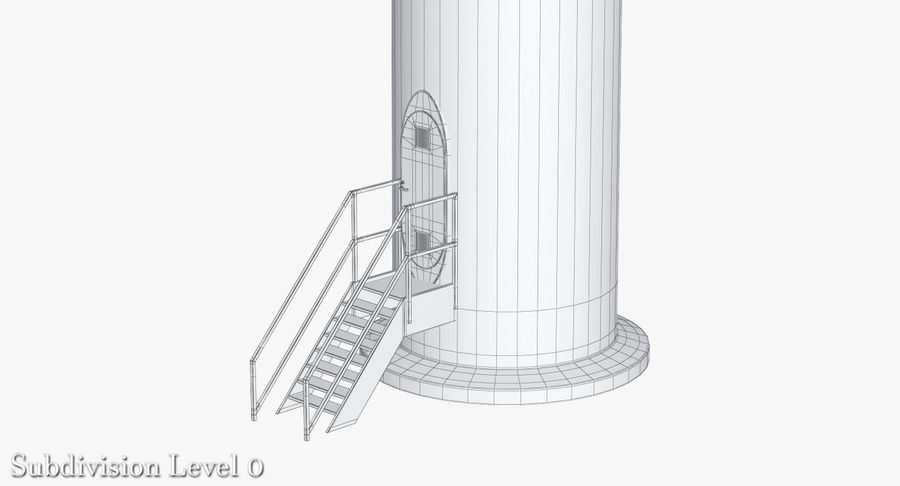 Windgenerator 1 royalty-free 3d model - Preview no. 23