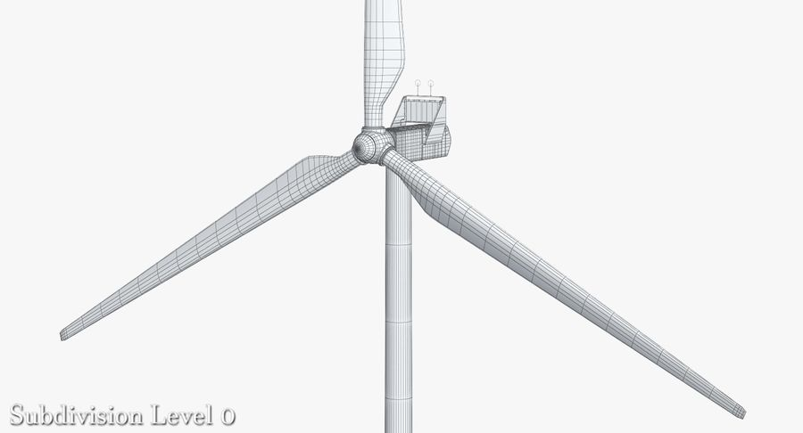 Windgenerator 1 royalty-free 3d model - Preview no. 11