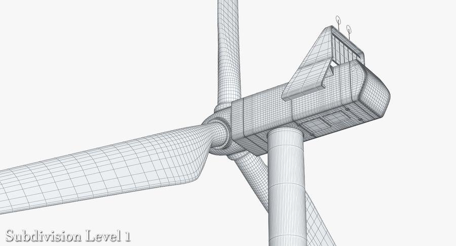 Windgenerator 1 royalty-free 3d model - Preview no. 18