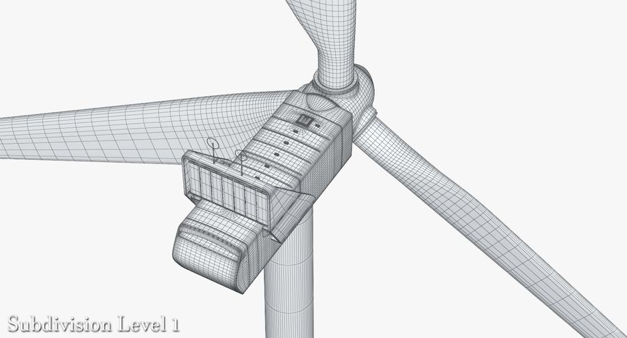Windgenerator 1 royalty-free 3d model - Preview no. 15