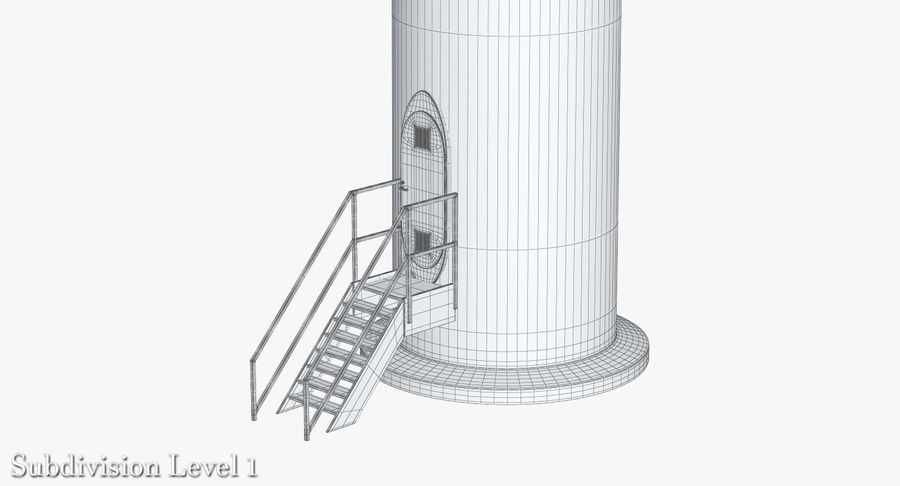 Windgenerator 1 royalty-free 3d model - Preview no. 24