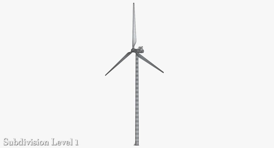 Windgenerator 1 royalty-free 3d model - Preview no. 6