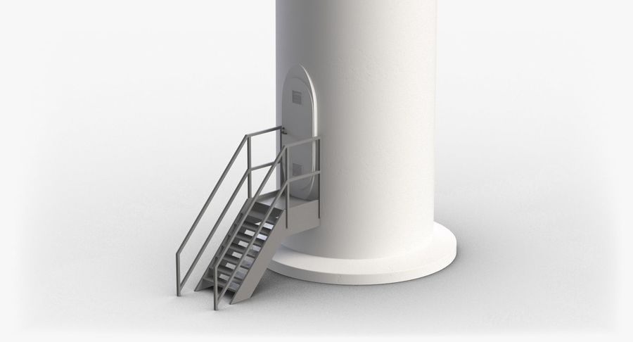 Windgenerator 1 royalty-free 3d model - Preview no. 22