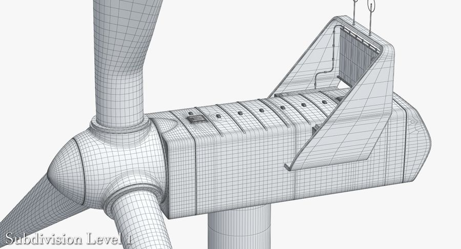 Windgenerator 1 royalty-free 3d model - Preview no. 21