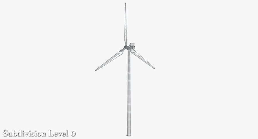 Windgenerator 1 royalty-free 3d model - Preview no. 8