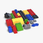 Lego Bricks Set 3d model