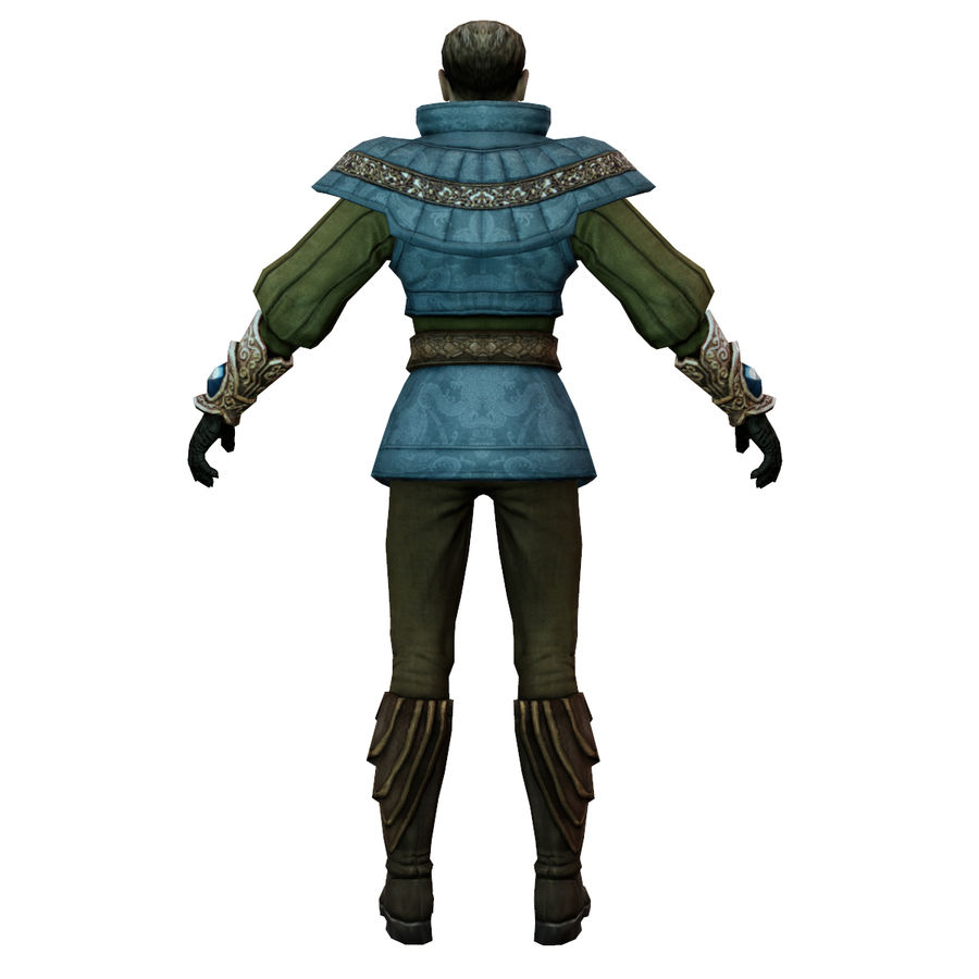 medieval guard royalty-free 3d model - Preview no. 4