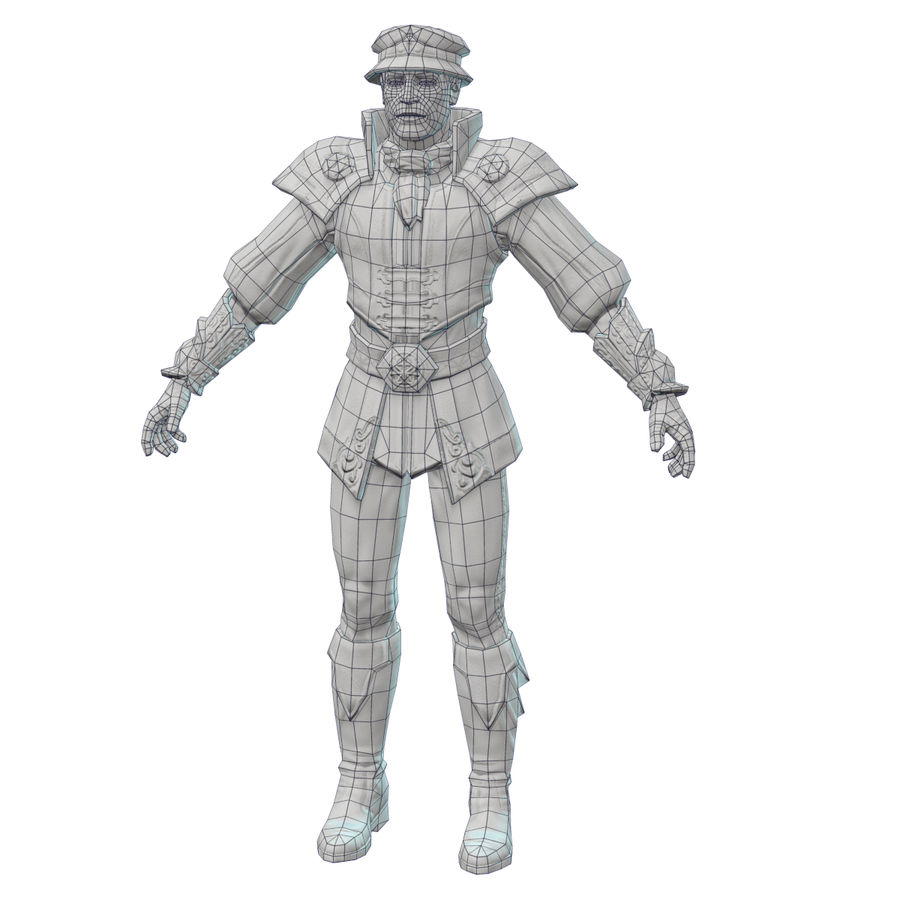 medieval guard royalty-free 3d model - Preview no. 10
