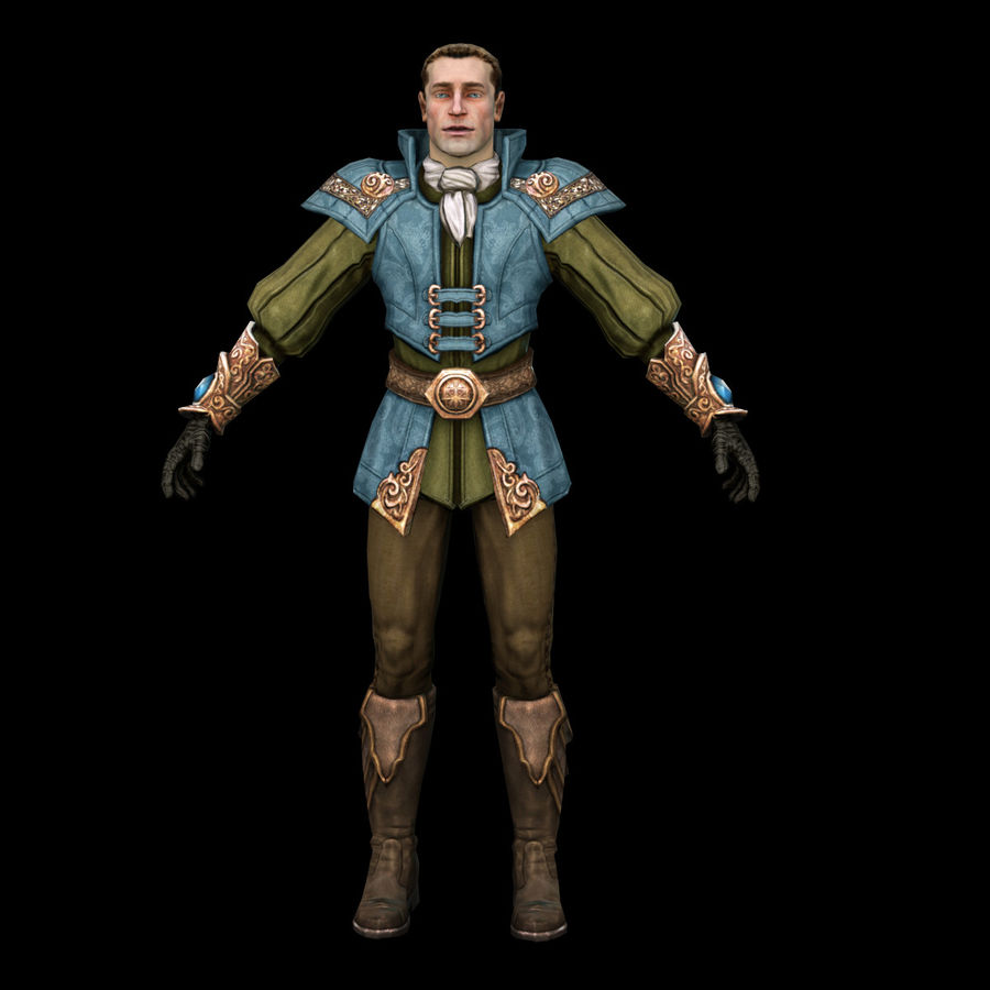 guardia medievale royalty-free 3d model - Preview no. 8