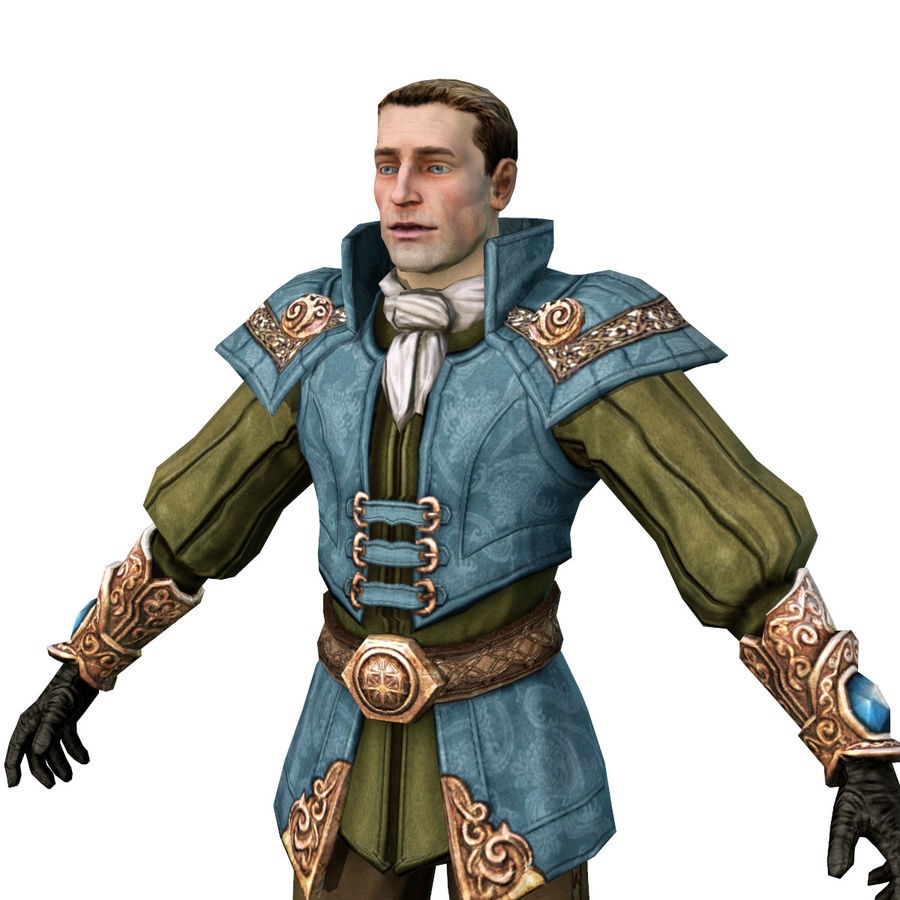 guardia medievale royalty-free 3d model - Preview no. 1
