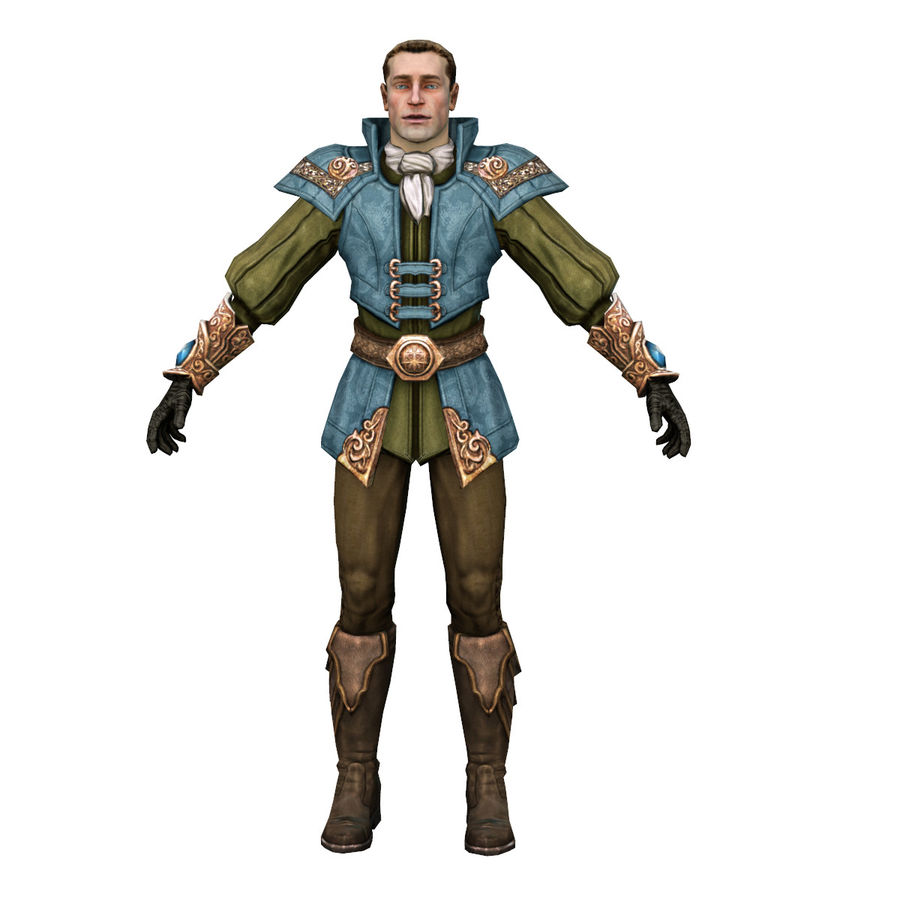guardia medievale royalty-free 3d model - Preview no. 2