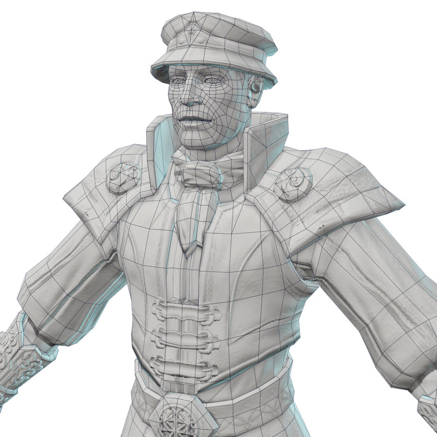 guardia medievale royalty-free 3d model - Preview no. 9