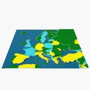 Mapa de Europa 3D modelo 3d