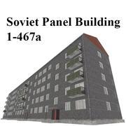 苏联面板大厦 3d model