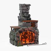 Dibujos animados de chimenea modelo 3d