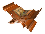 Laukh (islamic book support) 3d model