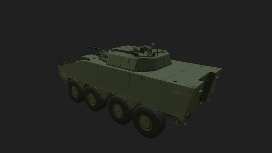 AMV Patria ,KTO Rosomak royalty-free 3d model - Preview no. 2
