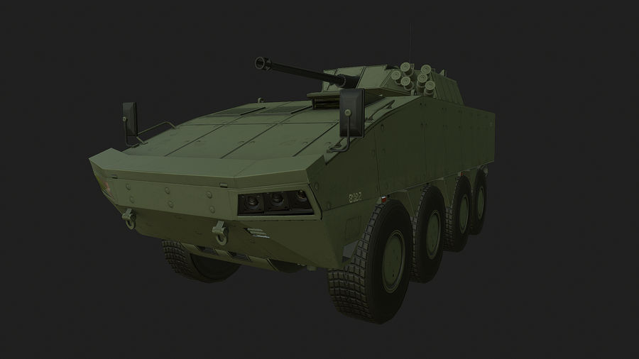 AMV Patria ,KTO Rosomak royalty-free 3d model - Preview no. 1