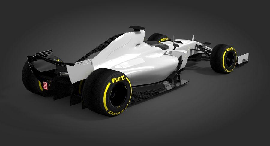 Formula 1 Future Concept royalty-free 3d model - Preview no. 4