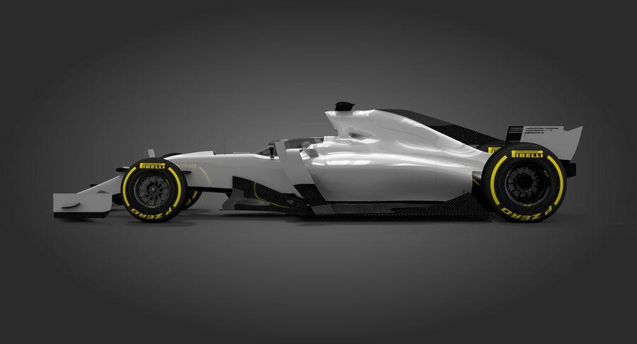 Formula 1 Future Concept royalty-free 3d model - Preview no. 5