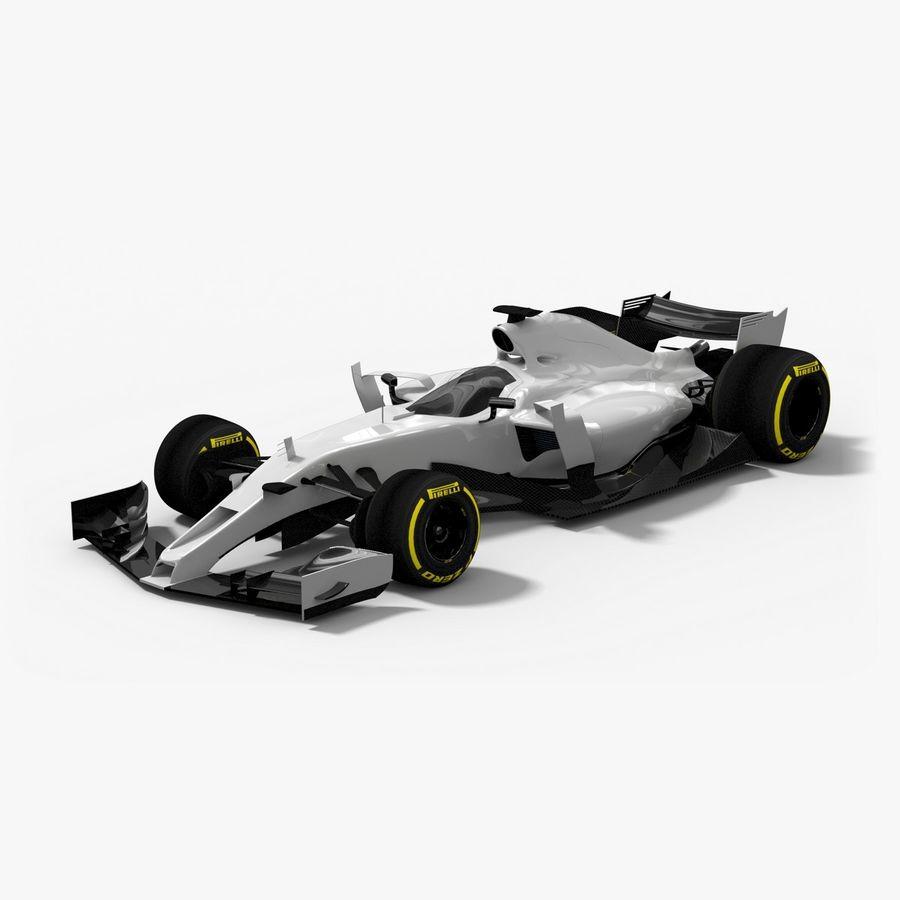 Formula 1 Future Concept royalty-free 3d model - Preview no. 1