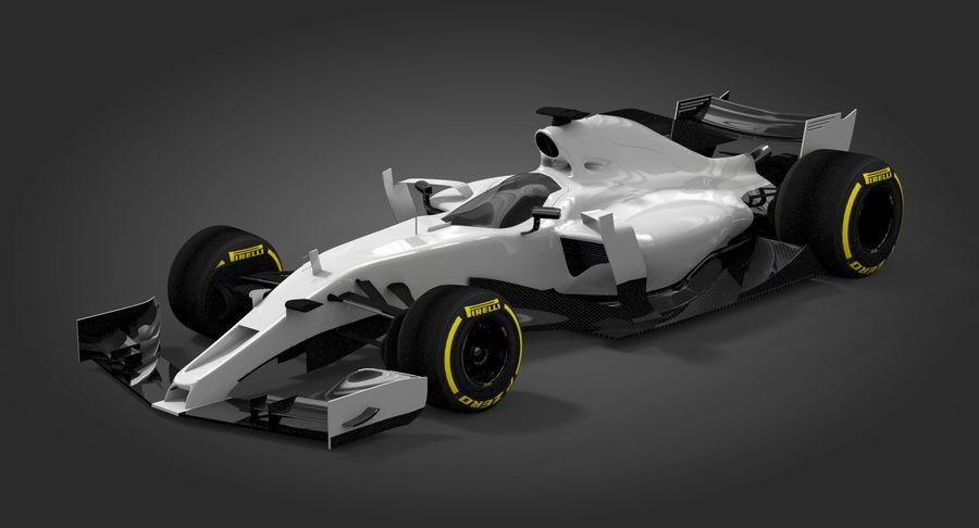Formula 1 Future Concept royalty-free 3d model - Preview no. 3