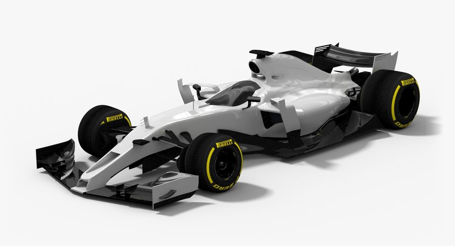 Formula 1 Future Concept royalty-free 3d model - Preview no. 2