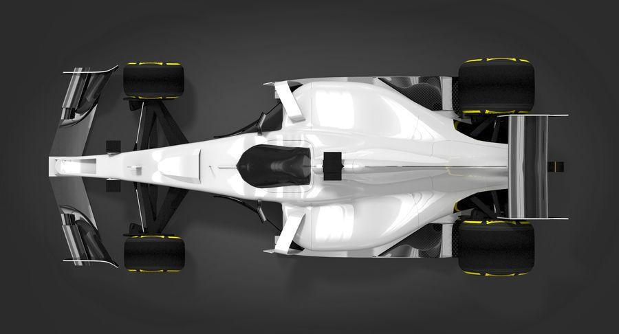 Formula 1 Future Concept royalty-free 3d model - Preview no. 6