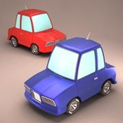 Coche de dibujos animados modelo 3d