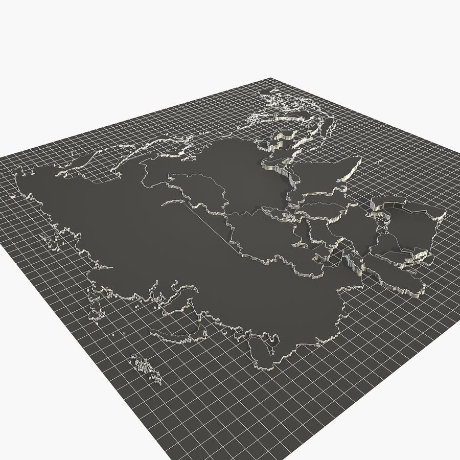 3D Asia Map royalty-free 3d model - Preview no. 6
