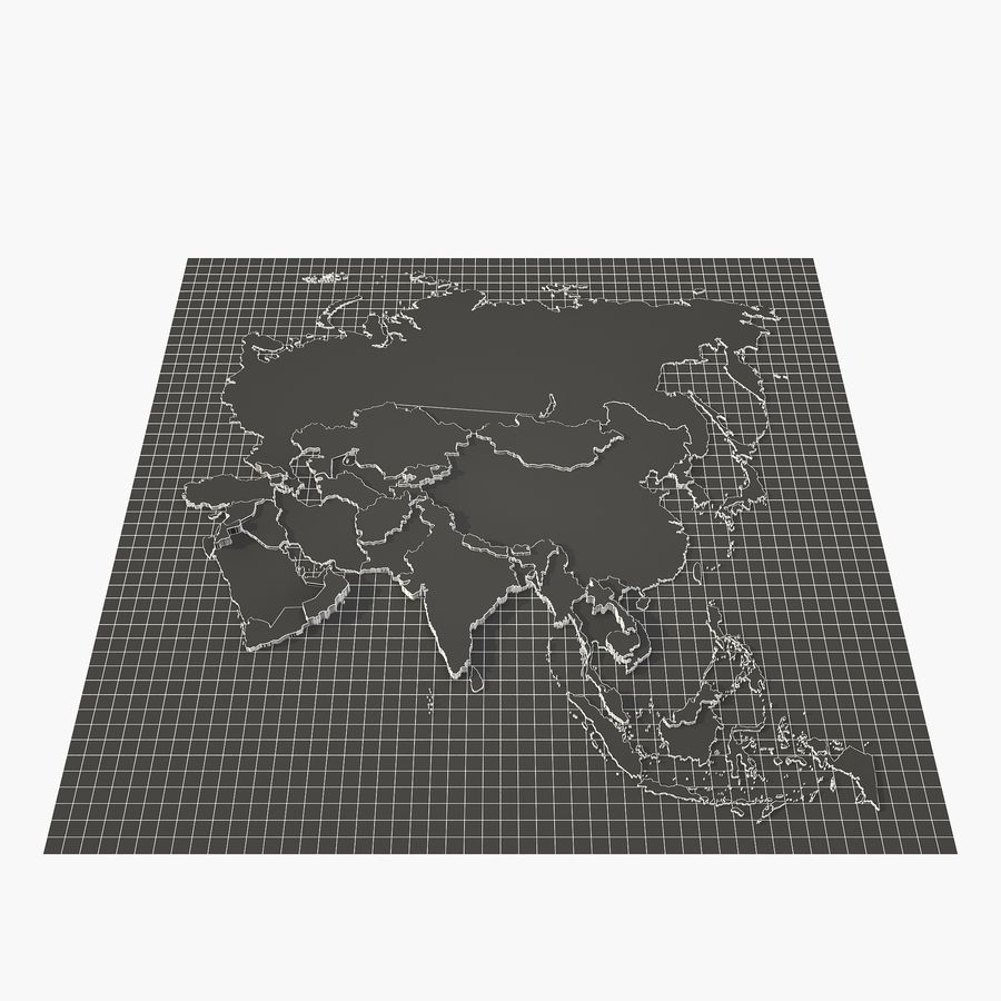 3D Asia Map royalty-free 3d model - Preview no. 7