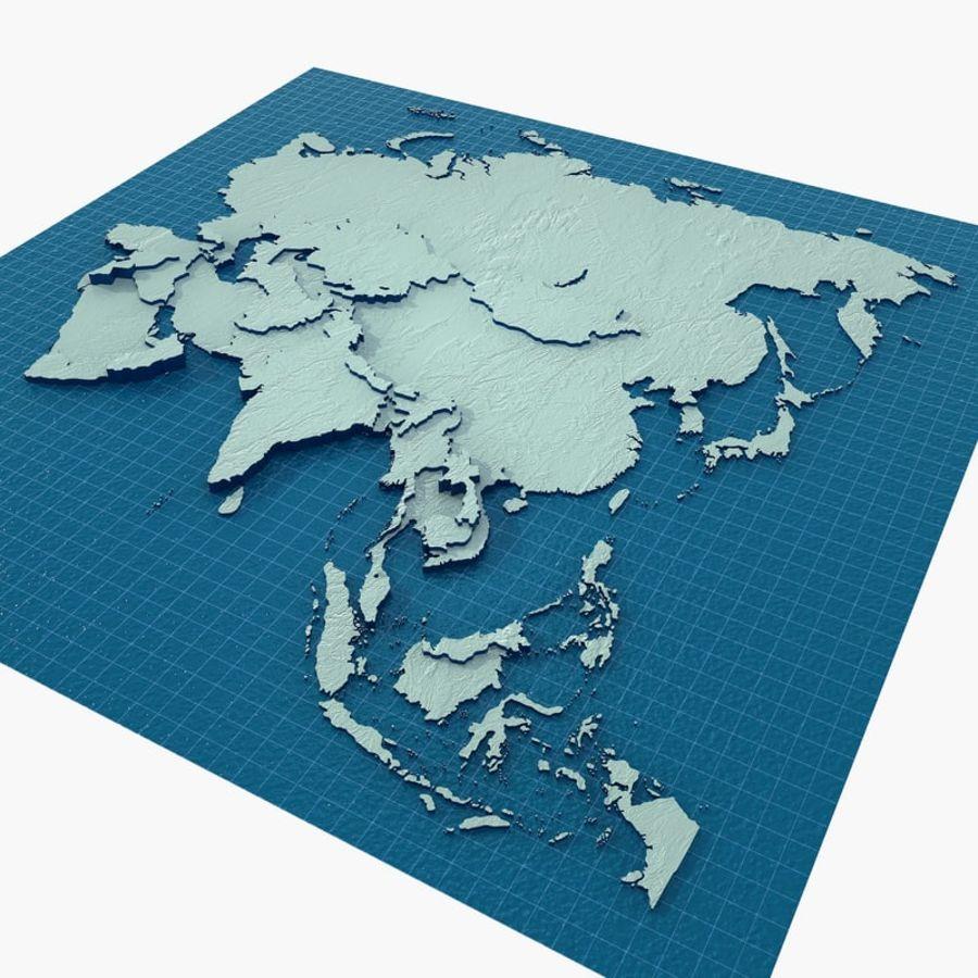 3D Asia Map.rar royalty-free 3d model - Preview no. 2