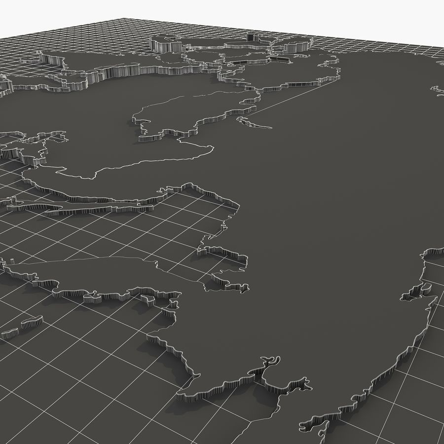 3D Asia Map royalty-free 3d model - Preview no. 9