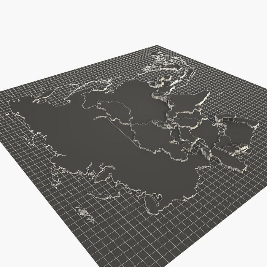 3D Asia Map.rar royalty-free 3d model - Preview no. 6