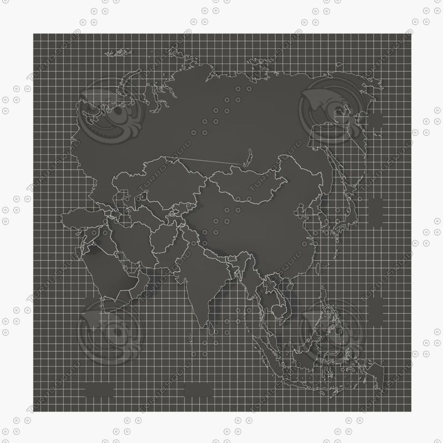 3D Asia Map.rar royalty-free 3d model - Preview no. 10