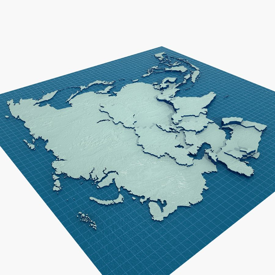 3D Asia Map royalty-free 3d model - Preview no. 5