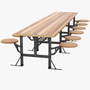 Mesa de salón modelo 3d