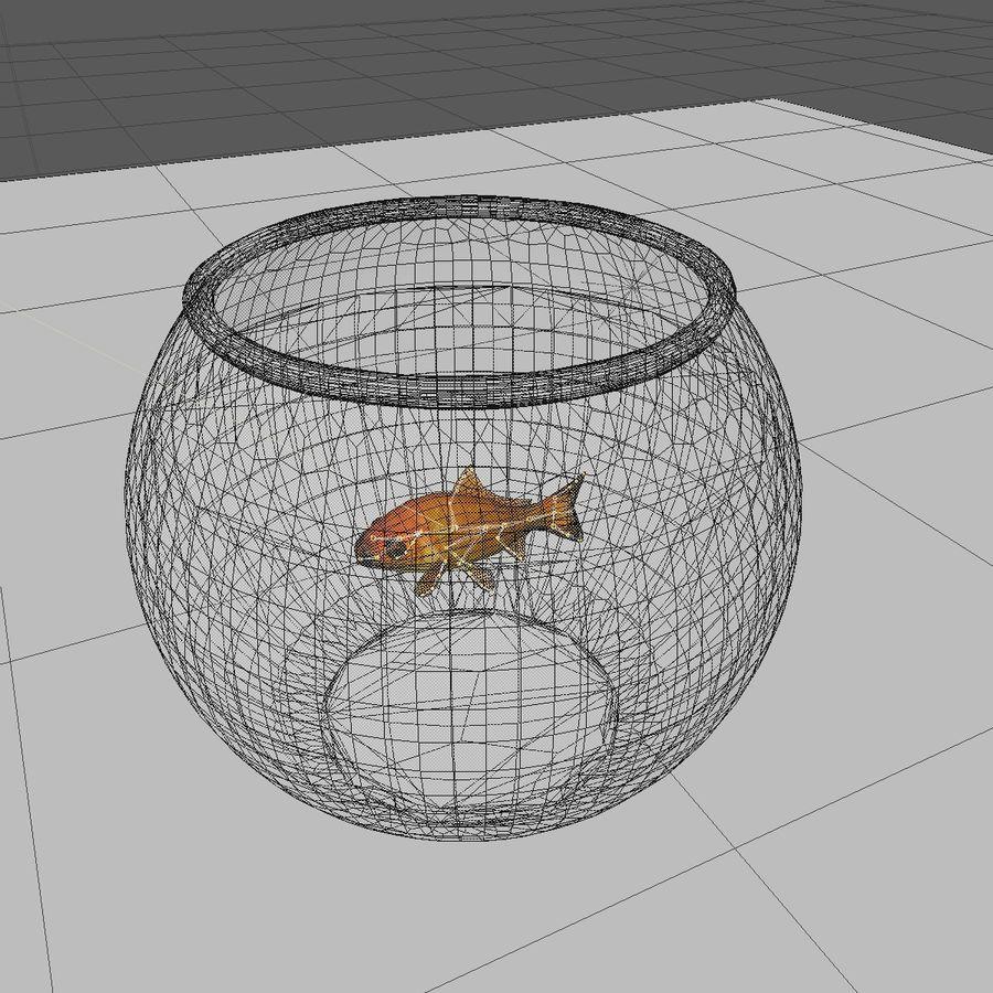 Peixe dourado animado em um aquário royalty-free 3d model - Preview no. 12