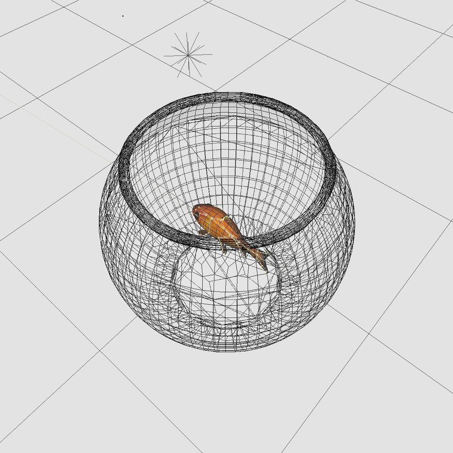 Peixe dourado animado em um aquário royalty-free 3d model - Preview no. 13