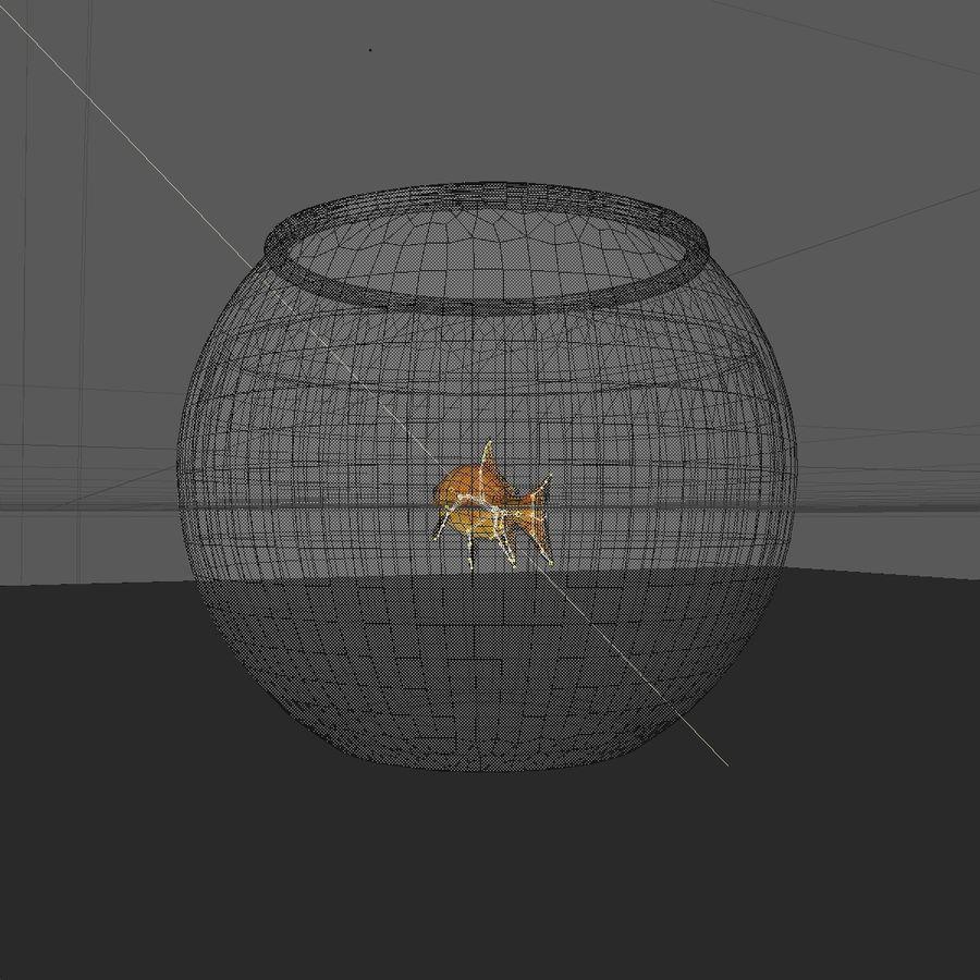 Peixe dourado animado em um aquário royalty-free 3d model - Preview no. 15
