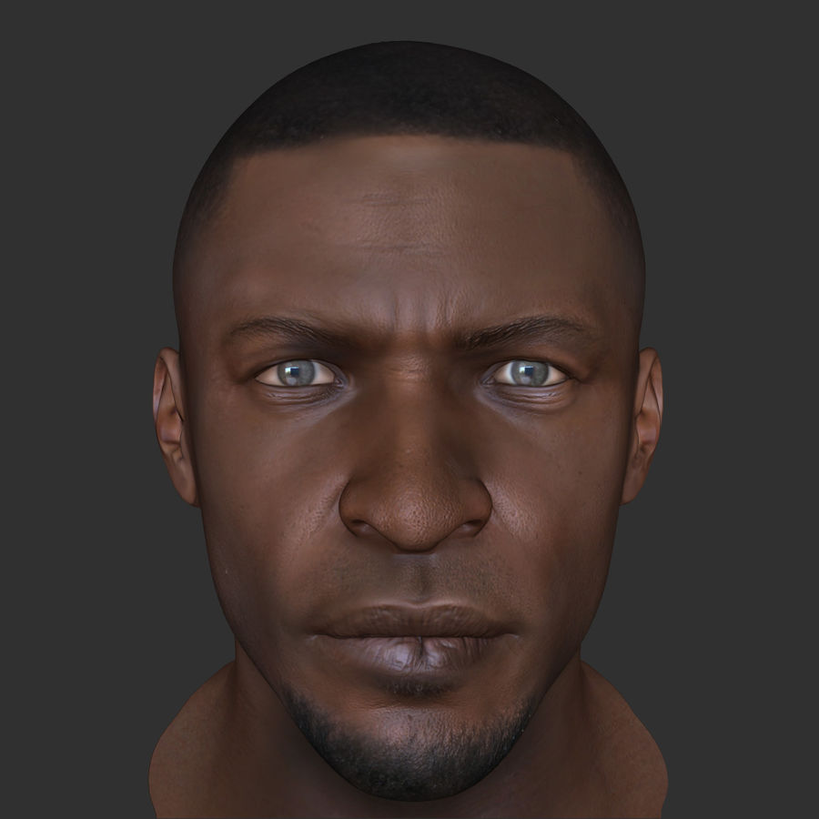 Human Head 4(Male) royalty-free 3d model - Preview no. 2